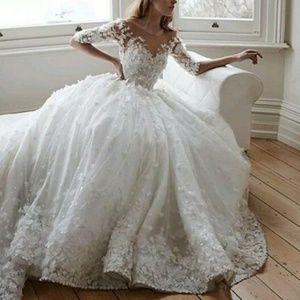 Dresses & Skirts - 3D flower ball gown